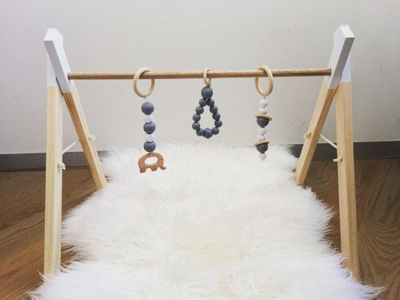 wooden baby play gym timber playgym by mylittlegigglesmelb. Black Bedroom Furniture Sets. Home Design Ideas