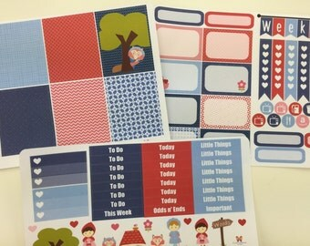 Little Red Riding Hood Weekly Planner Sticker Set | compatible with Erin Condren VERTICAL Life Planner | L448ABC