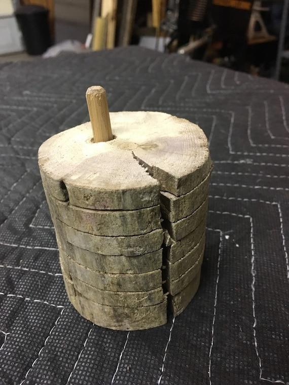Driftwood drink coasters set handmade drift wood one of a kind for Handmade drink coasters