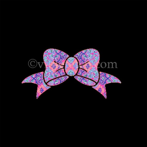 Bow Decal-Yeti Cup Decal-Lilly Bow Decal-Window Decal-Laptop Decal