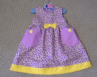Puperita Pattern, Girls Dress, Girls Clothing, Girls Size 18m
