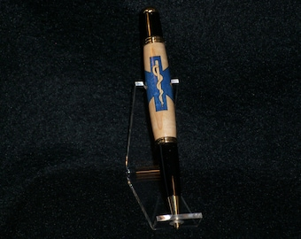 Handcrafted EMT (Star of Life) Inlay Pen