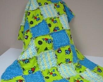 Handmade Baby Robot Rescue Man Rag Quilt C-94