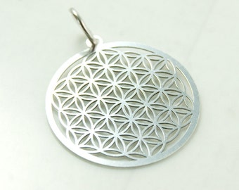 Flower of life, pendant with loop, 925 silver art.3273