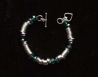 Bangle glass beads and spacers