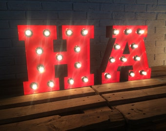 marquee letter lights circus letters letter w letter d bar sign - Lighted Marquee Letters