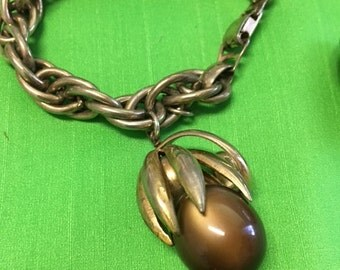 Napier Bracelet and Clip-On Earring Set