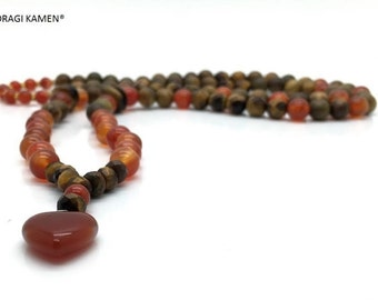 Mala Powerfull Self-confidence, 108 beads, Krachtig Zelfvertrouwen