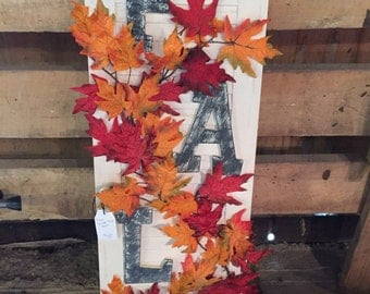 FALL Faux Shutter - wall decor, fall, seasonal