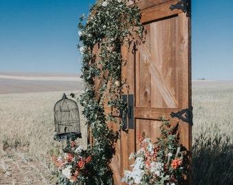 Custom Barn Doors for Rustic Wedding