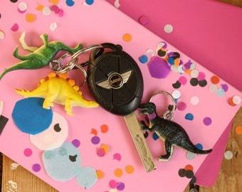 Pet dinosaur keychain