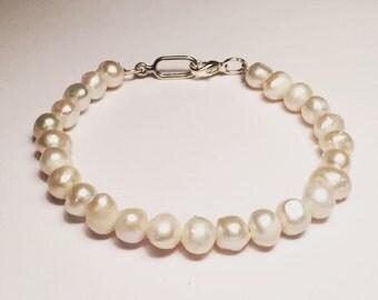 Fredhwater Pearl 10K Gold Bracelet.