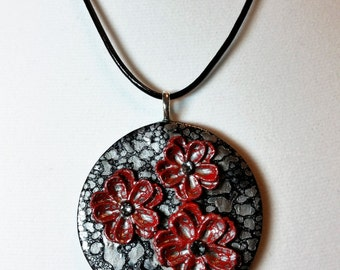 Silver Blossoms Pendant Necklace