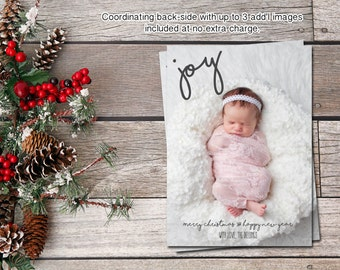 CHRISTMAS PHOTO Cards | Holiday Photo Cards | JOY | Digital-Printable