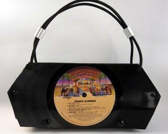 "Vinyl Record Clutch Purse -- ""Donna Style"""