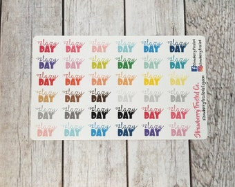 Lazy Day Multicolor- Happy Planner & Planner Stickers