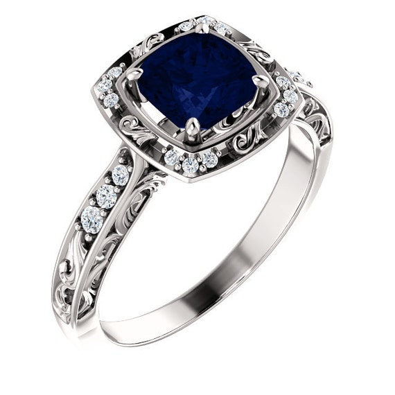 vintage sapphire ring antique sapphire ring victorian