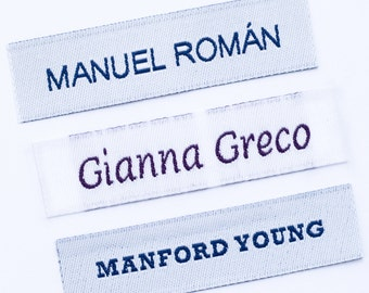 Name Labels Woven with Text and Symbol
