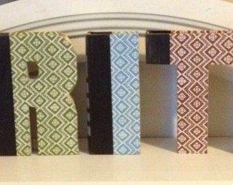 Book Letter - 5 Letter Combo - Custom UpCycled Vintage Readers Digest - Word Name Numbers FAITH