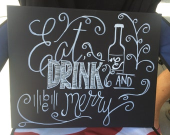 Eat drink and be merry canvas