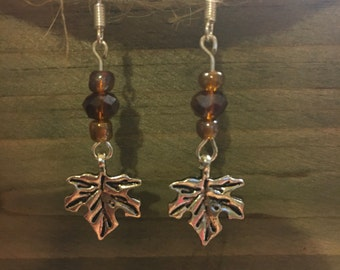 Maple leaf earring