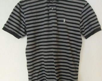 Polo by Ralph Lauren Mens Striped Polo Golf Shirt Size S Small Used Condition Worldwide Shipping