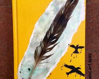 Prairie Falcon Feather Journal • Sketchbook • Diary