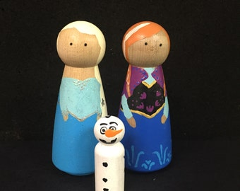 DIY Paint Your Own Frozen Peg Doll kit