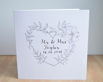 Personalised Valentines/Wedding/Anniversary Greeting Card