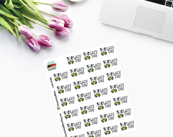 Itty Bitty LAZY DAY Planner Stickers CAM00183