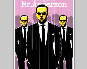 Alternative matrix agent smith poster movie hello mr anderson quote film scifi art home decor geek movie art
