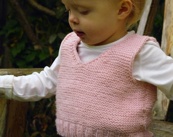 Easy Baby Vest Beginner Knitting Kit. Includes learn to knit instructions & merino yarn / Easy knit kit / Baby shower gift / Baby tank top