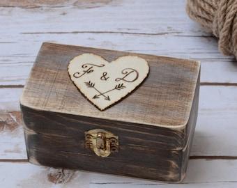 Wedding Ring Box Personalized Ring Bearer Rustic ring box