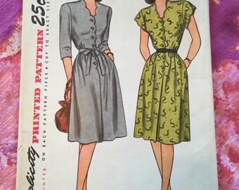 Vintage Simplicity 1549 Dress Sewing Pattern