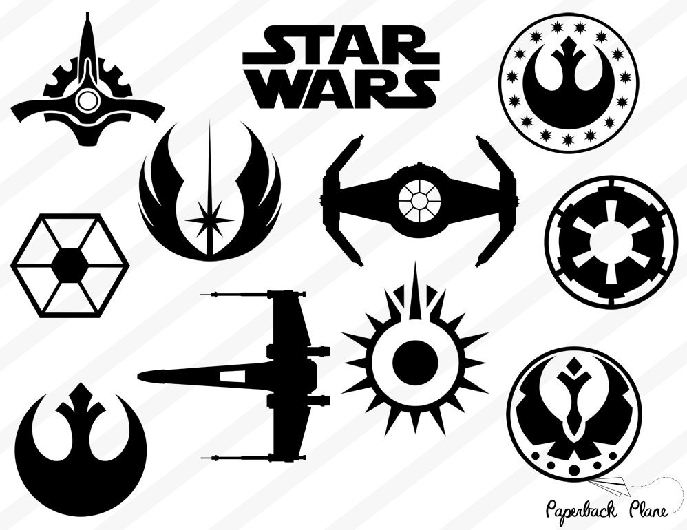 Star Wars Svg Png Cut Files For Use With Silhouette Studio