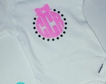 Baby Monogram Shirt- Toddler Monogram Shirt- Girl Monogram Shirt- Pink Monogram Shirt- Youth Monogram Shirt