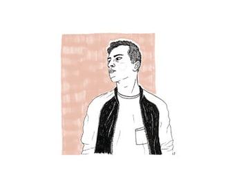 Custom Illustration (portrait) | marker