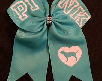 PINK Hair Bow - Softball Bow - Cheer Bow - Volleyball Bow So many colors to choose from!