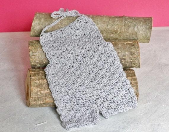 Crochet PATTERN - Newborn baby merino wool Romper. Size 0-1 months ...