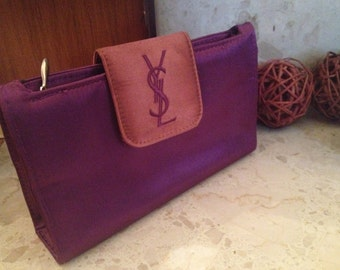 ysl black leather bag - ysl purple velvet clutch bag