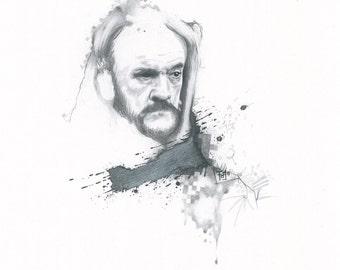 Lemmy (original art print 25x28cm)