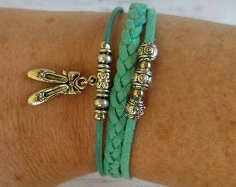 Personalized Sports Bracelet// Ballet Bracelet// Team Colors// Ballet Mom// Ballet Coach// Ballet Gift// Choose  Colors & Sports Charm
