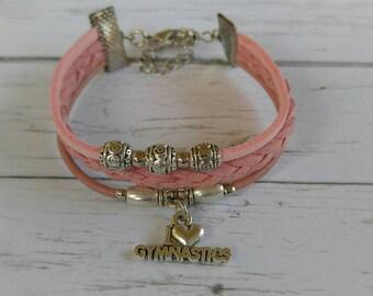 Gymnastics Bracelet// Team Colors// Gymnastics Mom// Gymnastics Coach// Gymnastics Gift// Custom Sports Bracelet for Girls// Choose Colors