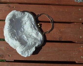 Vintage wedding clutch, Bridal Clutch, Bridal purse, Bridal ivory clutch, wedding clutch,bridal Clutch bag,  Bridal clutch bag ivory