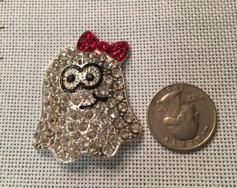 Ghost Halloween bling needle minder