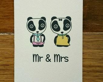 Mr & Mrs Panda Card