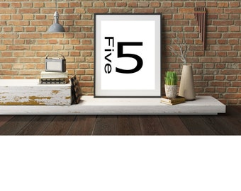 Typography A4 Poster,  Art,  Print on Paper Wall Art Home Decor Unframed