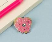 Heart Donut Enamel Pin // Food pin, lapel pin, hard enamel pin // food before dudes//EP020