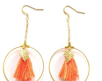 CLEO gold earrings was