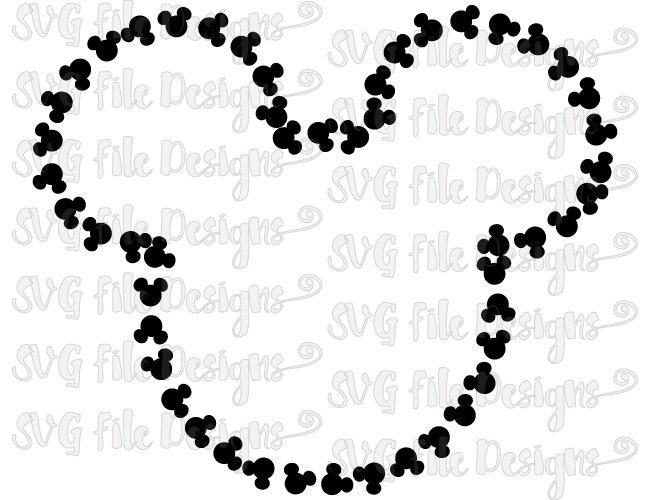 mickey mouse head shape template - mickey mouse head pattern outline disney cutting by